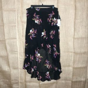 a new day Skirts - A New Day SZ L Skirt Boho High Low Festival Black